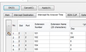 松下TDA和TDE的分机无应答截取时间和代码设置,无应答到优伦2030A参数设置