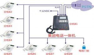 国威WS824一体机,2外线8分机小型程控集团电话