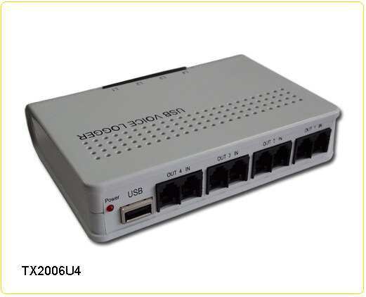 唐信录音盒Tansonic唐信TX2006U4型电话录音系统