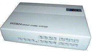 WS824-Q416II型,4外线16分机,可配置一部英文专用电话机,二次来显