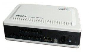 WS824-3(i)混合IP电话交换机报价,国威4外线16分机模拟+IP综合平台最新价格